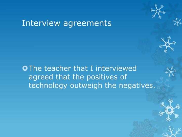 Interview agreements