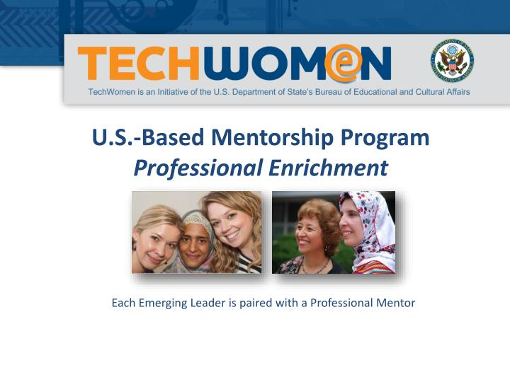 U.S.-Based Mentorship Program