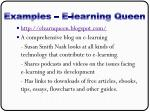 examples e learning queen