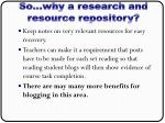 so why a research and resource repository1