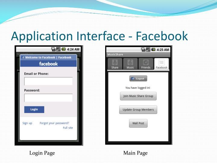 Application Interface -