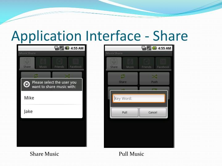 Application Interface - Share