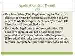 application env permit