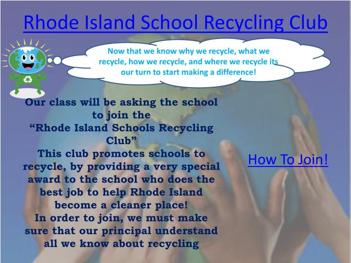 Rhode Island School Recycling Club
