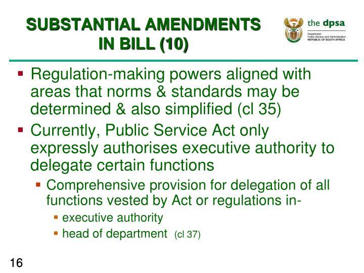 SUBSTANTIAL AMENDMENTS