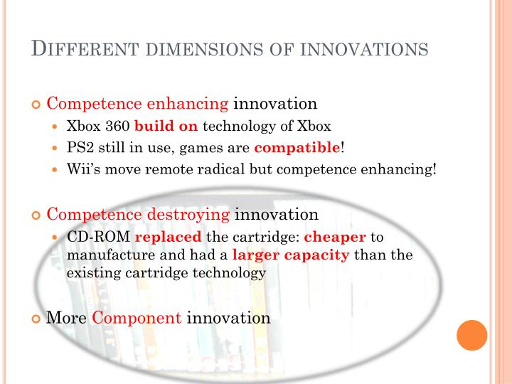 Different dimensions of innovations