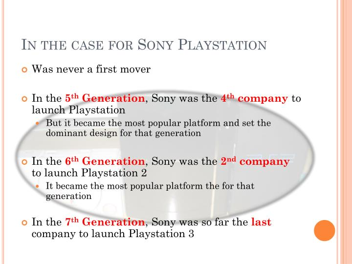 In the case for Sony