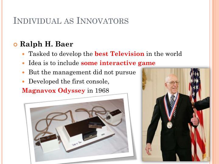 Individual as Innovators
