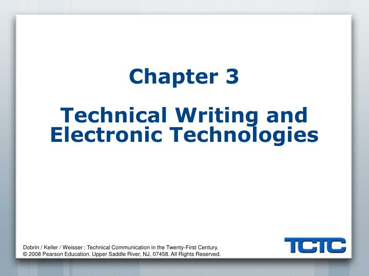 chapter 3 technical writing and electronic technologies n.