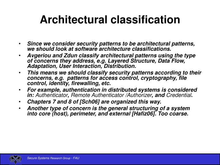 Architectural classification