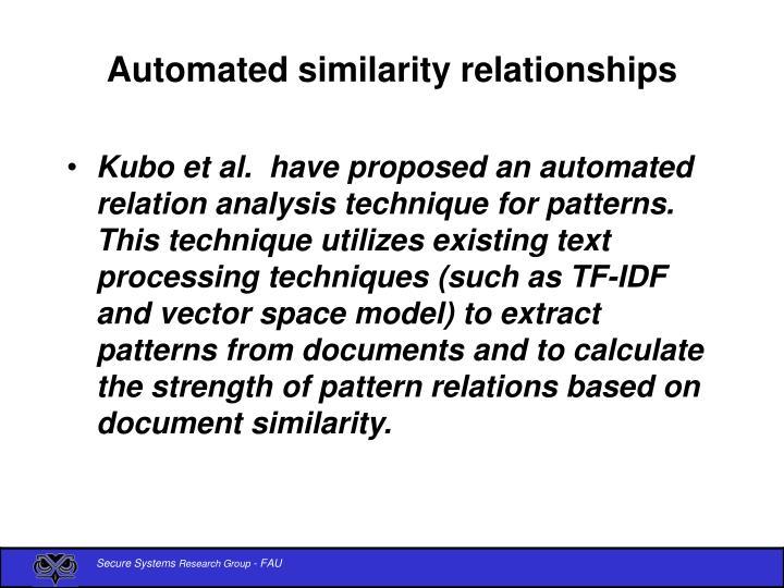 Automated similarity relationships