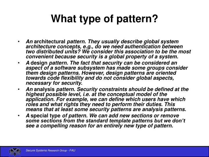 What type of pattern?