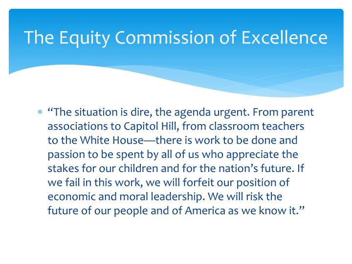 The Equity Commission of Excellence