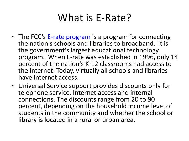 What is e rate