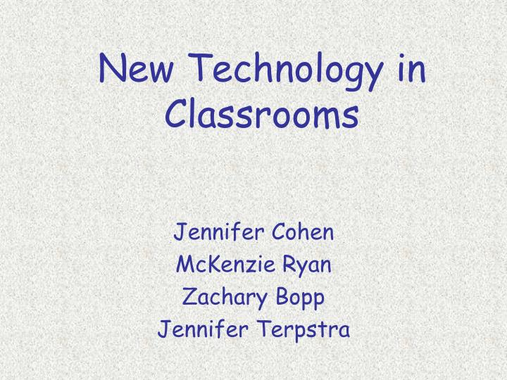 new technology in classrooms n.