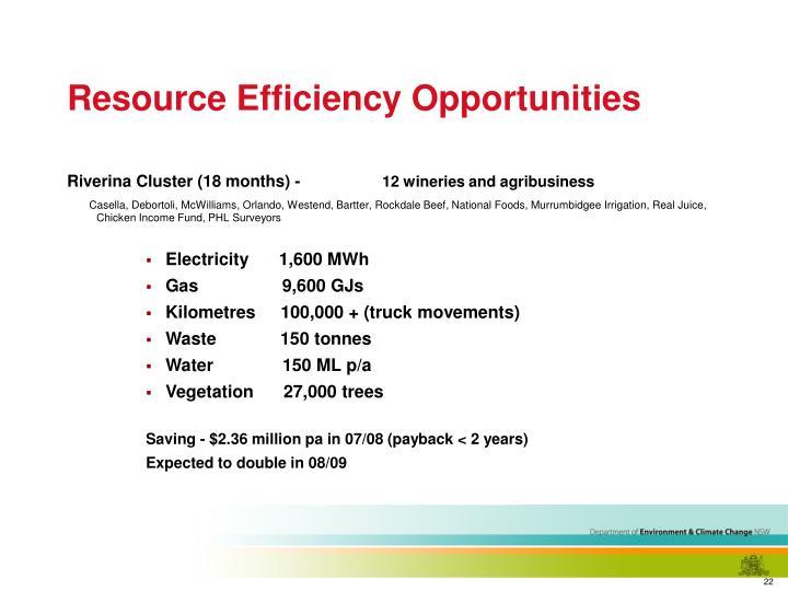Resource Efficiency Opportunities