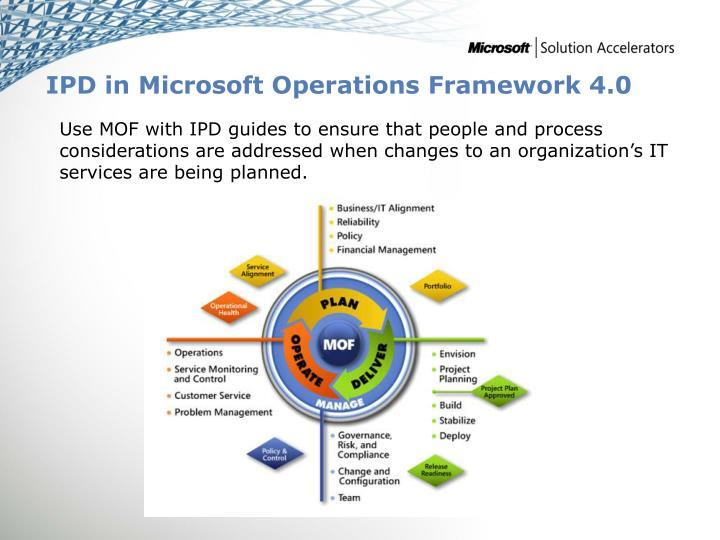 IPD in Microsoft Operations Framework 4.0