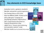 key elements in ecd knowledge base