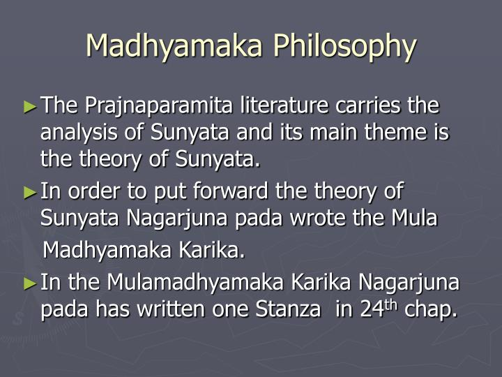 Madhyamaka philosophy1