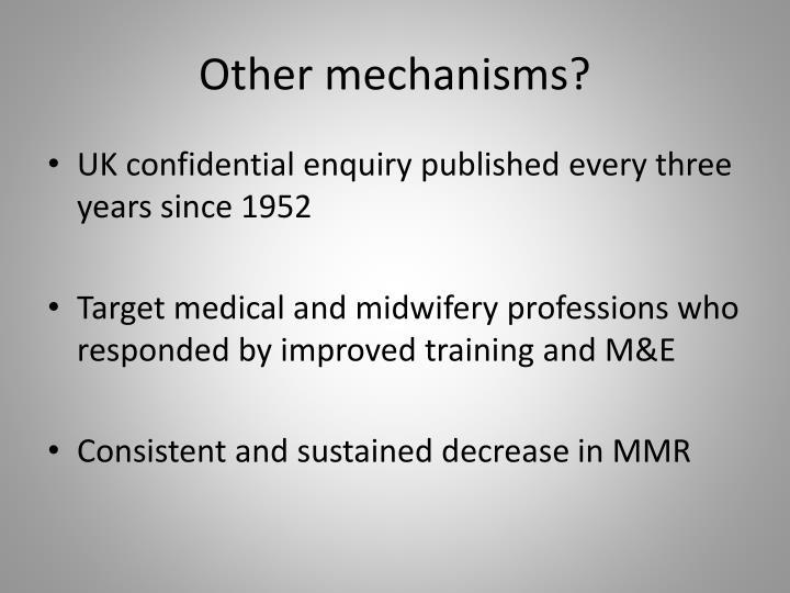 Other mechanisms?