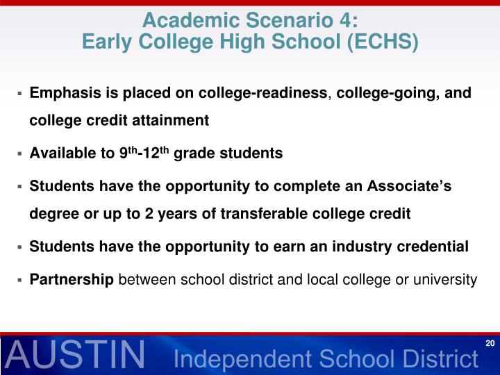 Academic Scenario 4: