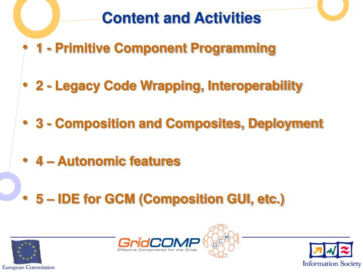 Content and Activities