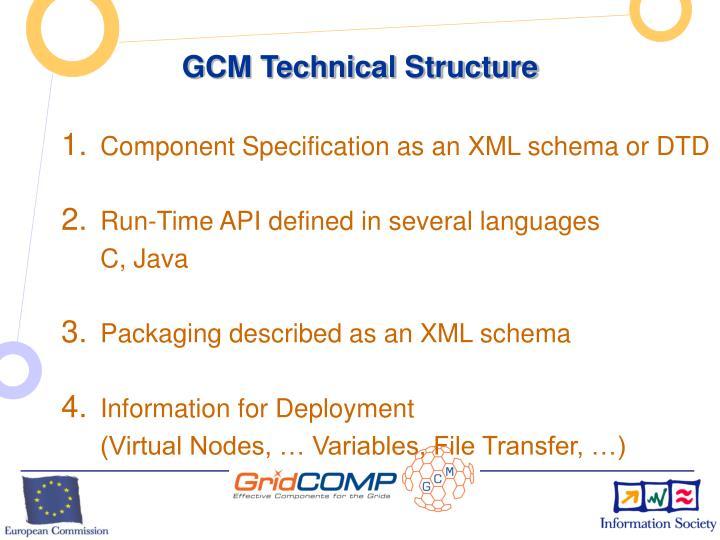 GCM Technical Structure