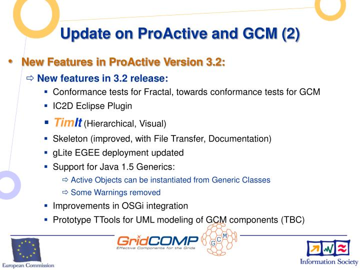 Update on ProActive and GCM (2)