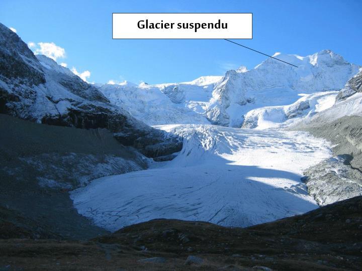 Glacier suspendu
