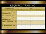 required training1