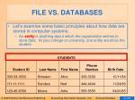 file vs databases