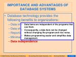 importance and advantages of database systems6