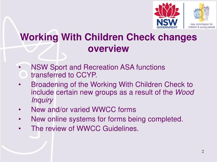 Working With Children Check changes