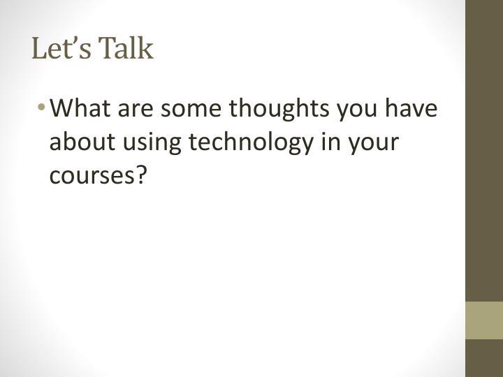 Let s talk