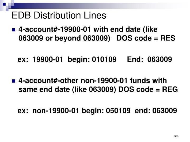 EDB Distribution Lines
