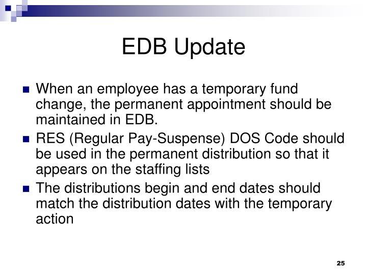 EDB Update