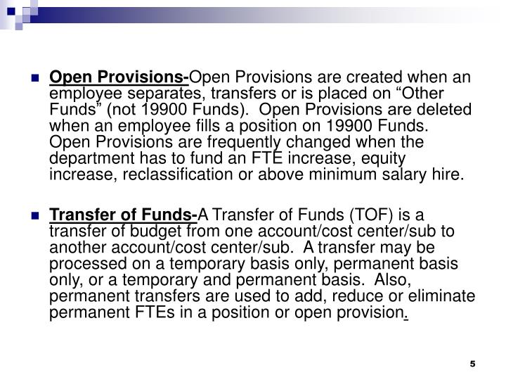 Open Provisions-