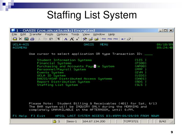 Staffing List System