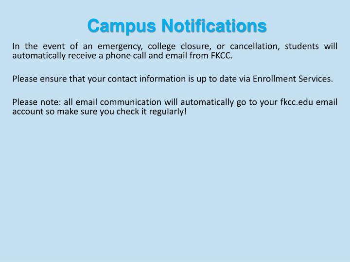 Campus Notifications