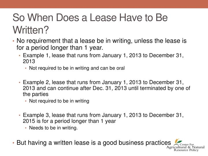 So When Does a Lease Have to Be Written?