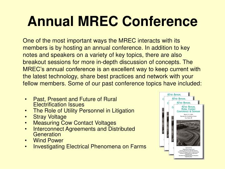 Annual MREC Conference