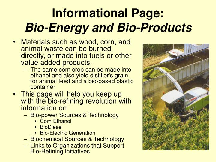 Informational Page: