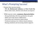 what s prompting success
