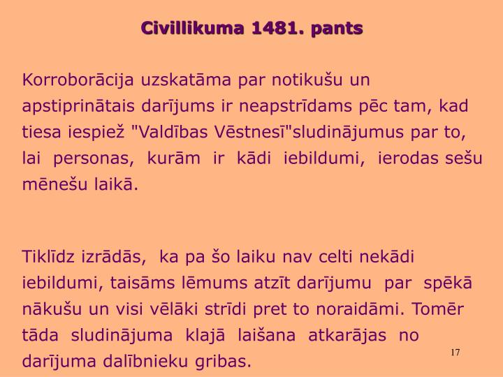 Civillikuma 1481. pants