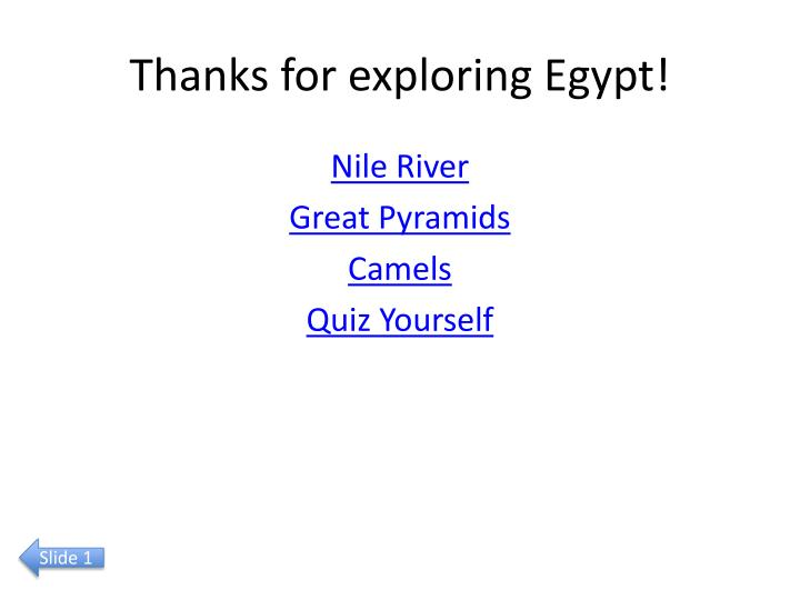 Thanks for exploring Egypt!