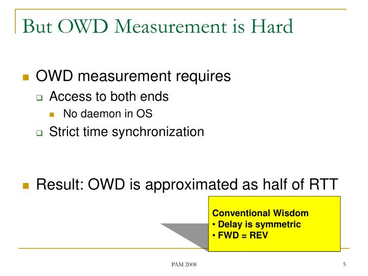 But OWD Measurement is Hard