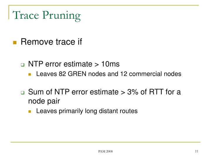 Trace Pruning