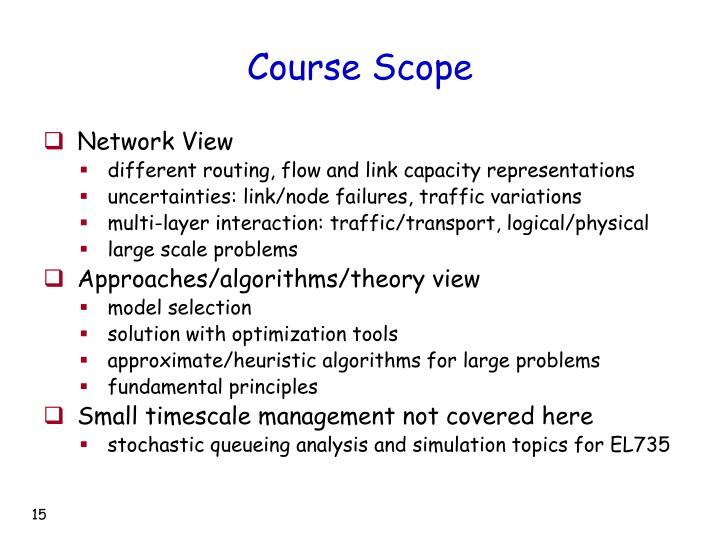 Course Scope