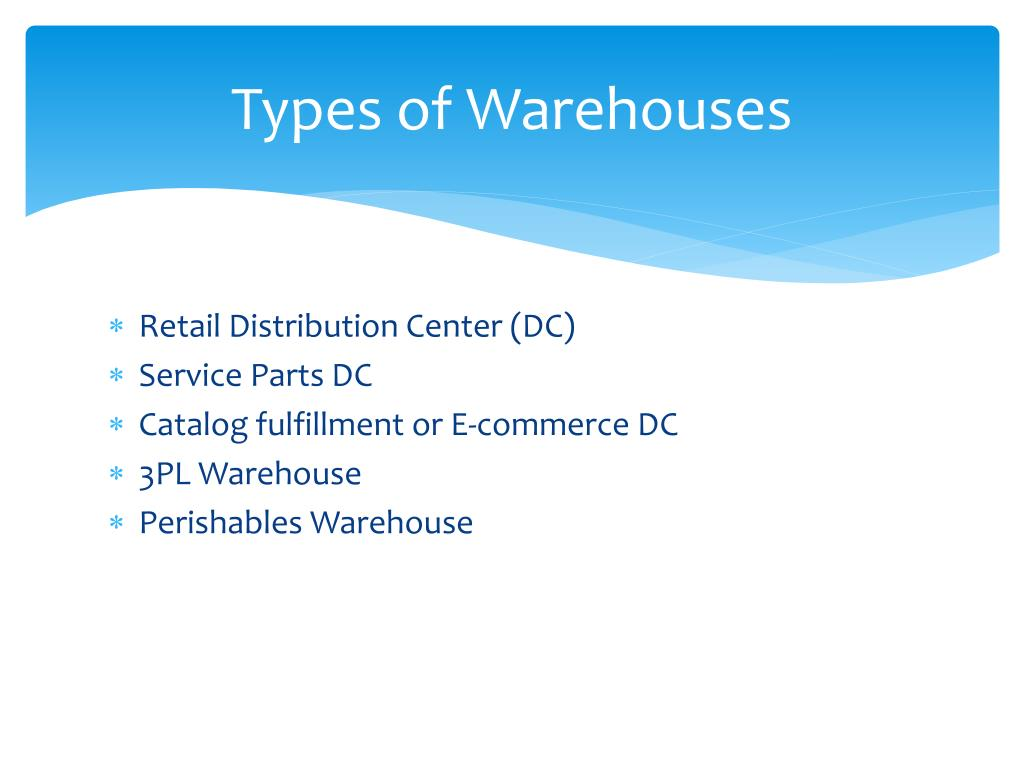 PPT - Types of Warehousing PowerPoint Presentation - ID:2905672