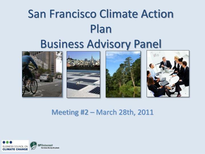 San francisco climate action plan business advisory panel